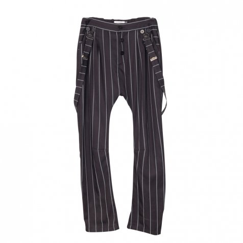 【MORE SALE 50%OFF】PARIS BAGGY PANT Black with grey lines
