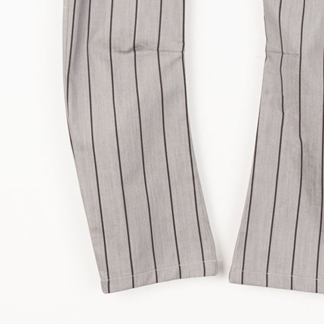 【SALE 40%OFF】PARIS BAGGY PANT Grey denim with black lines img2