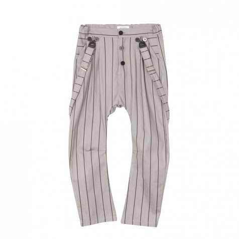 【WINTER SALE 60%OFF】PARIS BAGGY PANT Grey denim with black lines