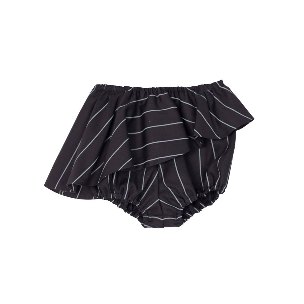 【SALE 40%OFF】ELINA BB SHORT Black with grey lines img