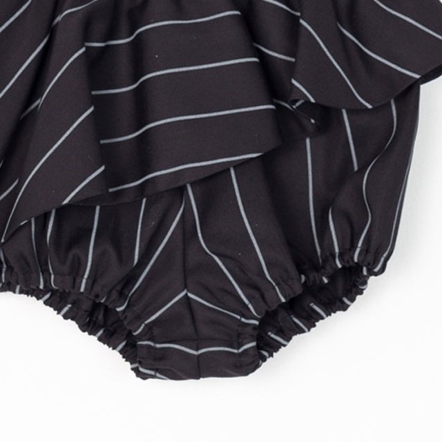 【MORE SALE 50%OFF】ELINA BB SHORT Black with grey lines img1