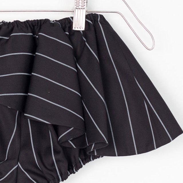 【MORE SALE 50%OFF】ELINA BB SHORT Black with grey lines img2