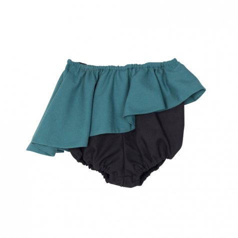 【WINTER SALE 60%OFF】ELINA BB SHORT Bootle green & black