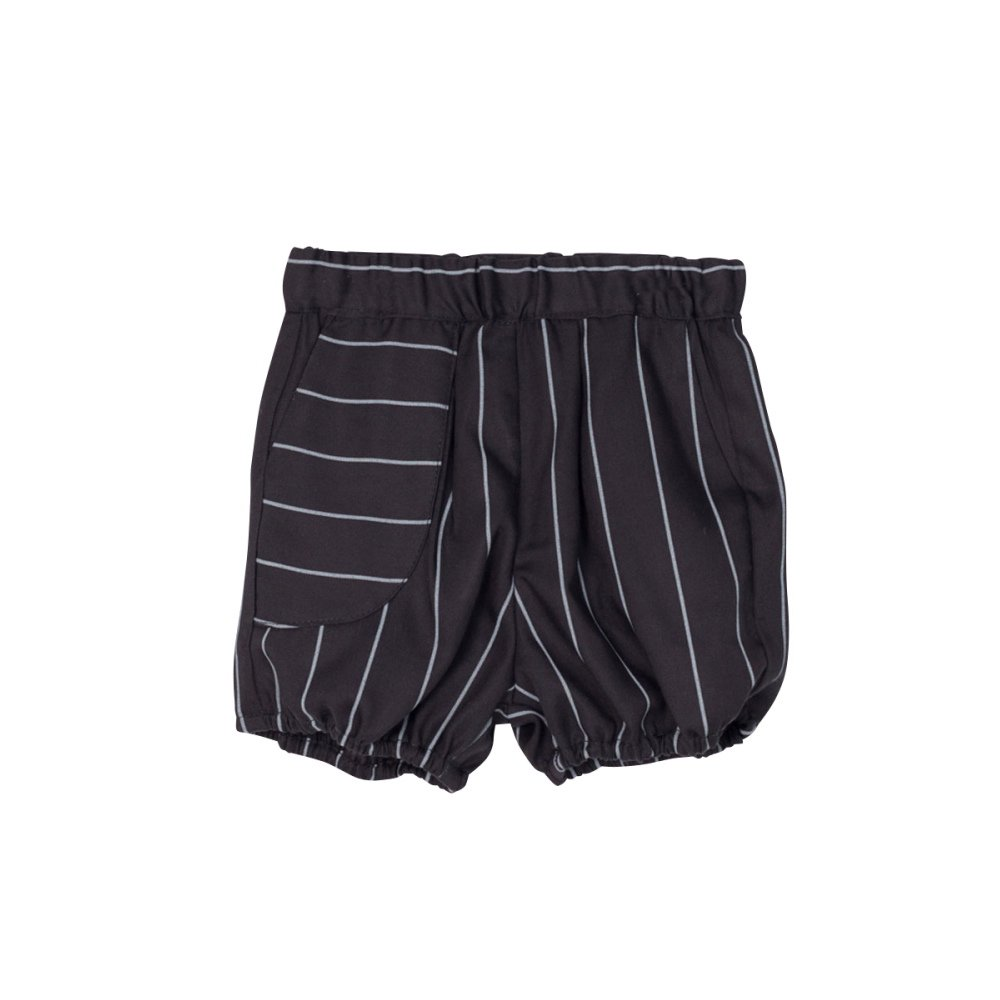 【SALE 40%OFF】APOLO SHORT Black with grey lines img