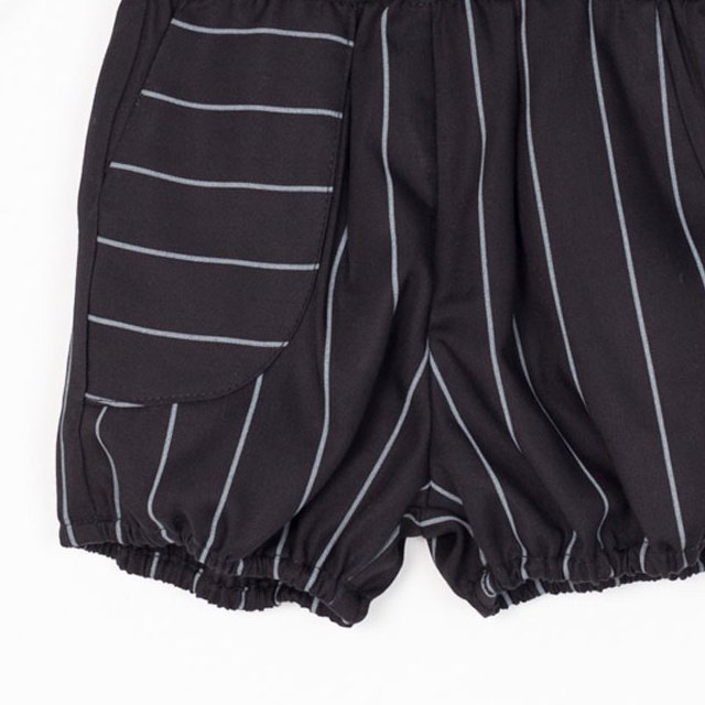 【SALE 40%OFF】APOLO SHORT Black with grey lines img1