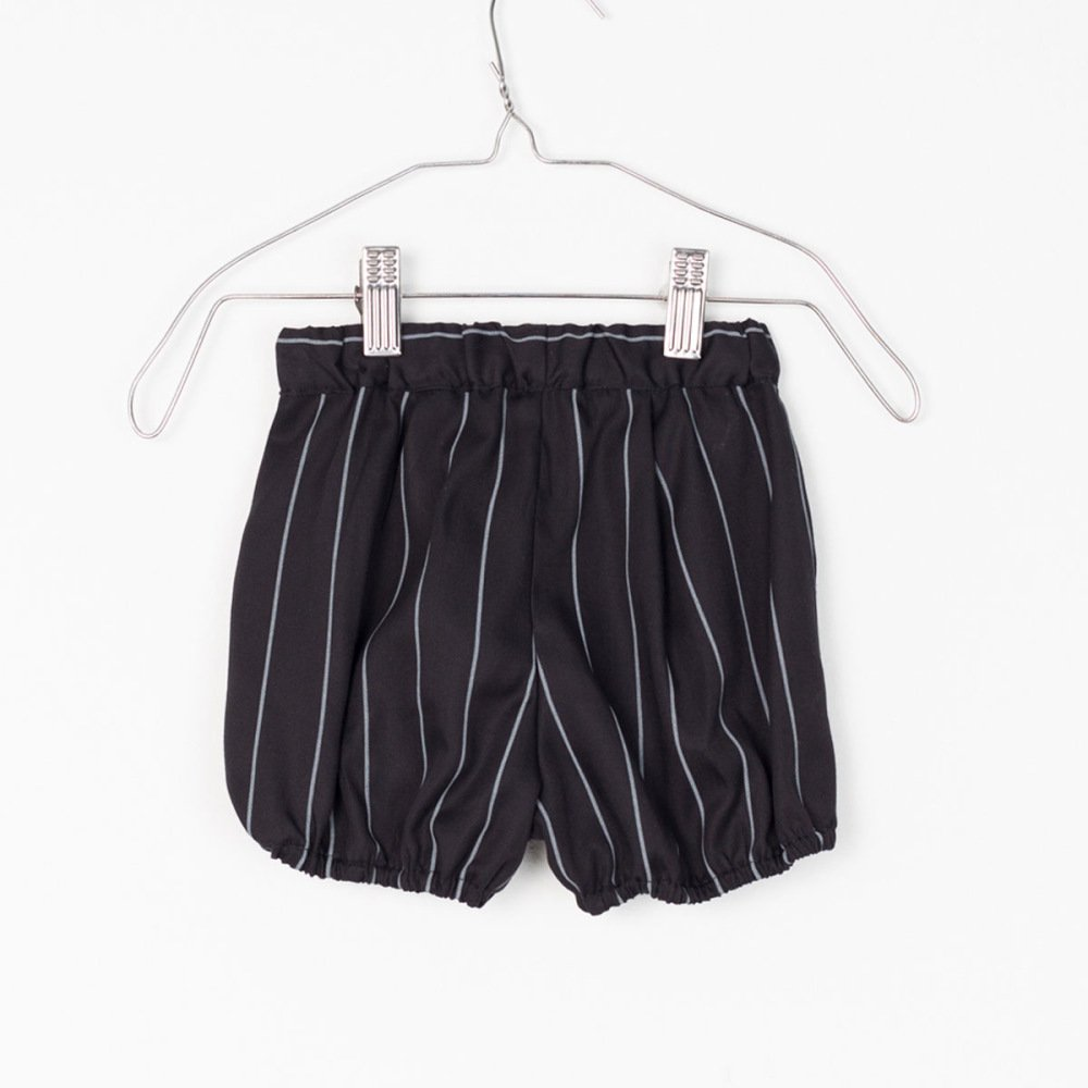 【SALE 40%OFF】APOLO SHORT Black with grey lines img2