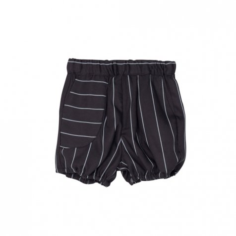 【WINTER SALE 60%OFF】APOLO SHORT Black with grey lines