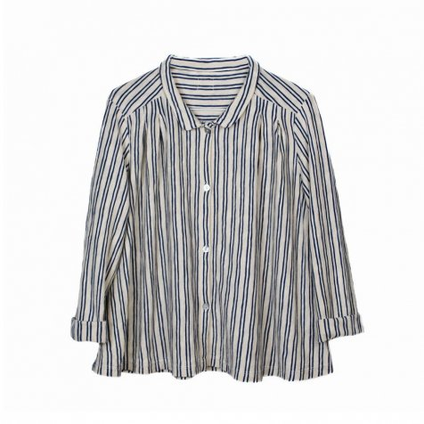 【MORE SALE 40%OFF】BETI Striped Shirt Hot Milk