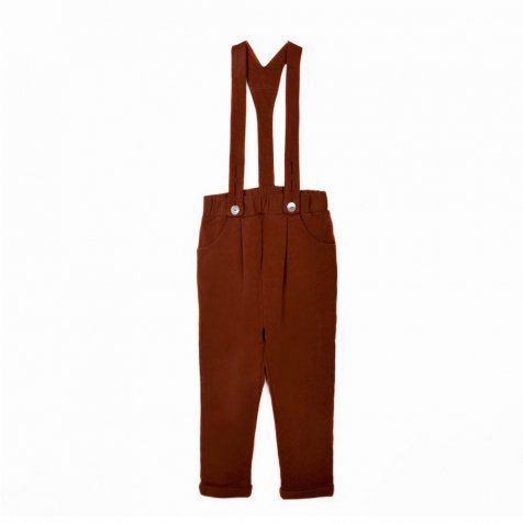 【SALE 30%OFF】GOJI Fleece Braces Trousers Erable