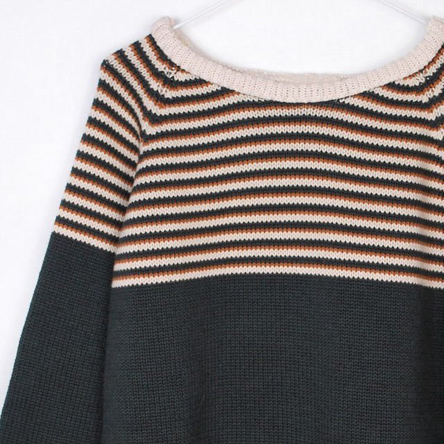 【SALE 30%OFF】MIRO Striped Sweater Carbone img1
