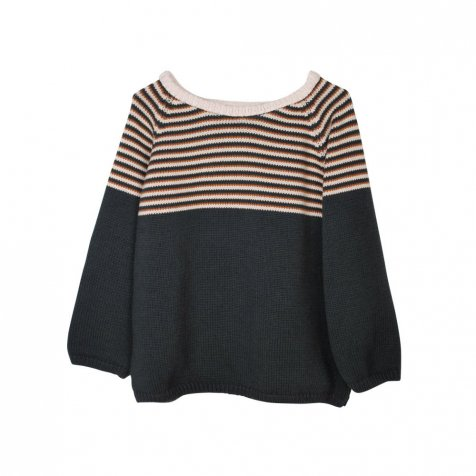 【MORE SALE 40%OFF】MIRO Striped Sweater Carbone