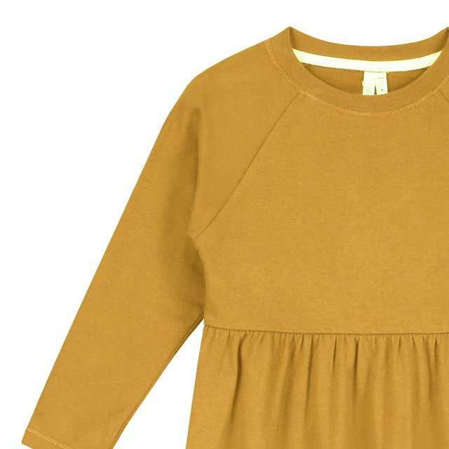 【50%OFF】L/S Long Dress Mustard img1