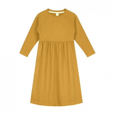 【SALE 30%OFF】L/S Long Dress Mustard