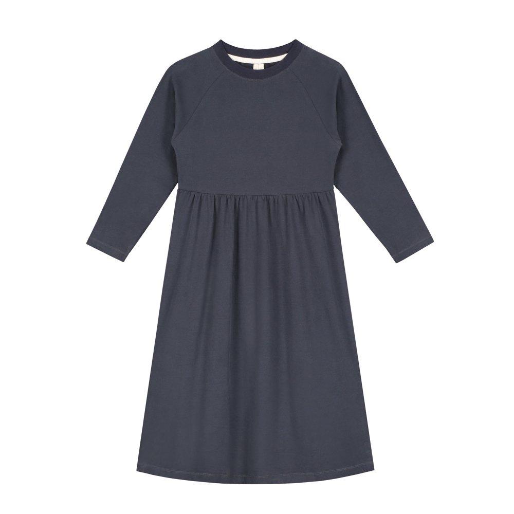 【SALE 30%OFF】L/S Long Dress Night Blue img