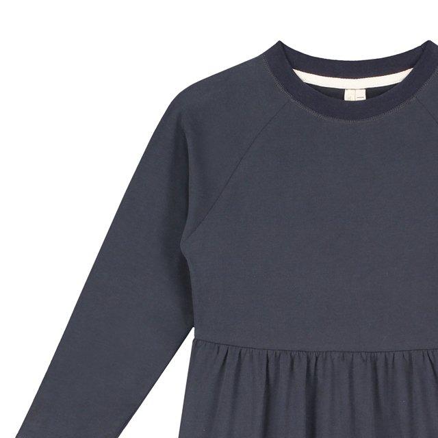 【SALE 30%OFF】L/S Long Dress Night Blue img1
