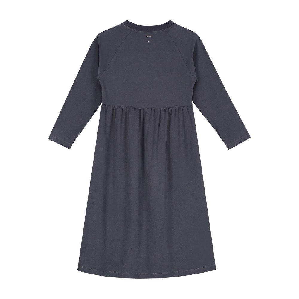 【SALE 30%OFF】L/S Long Dress Night Blue img3