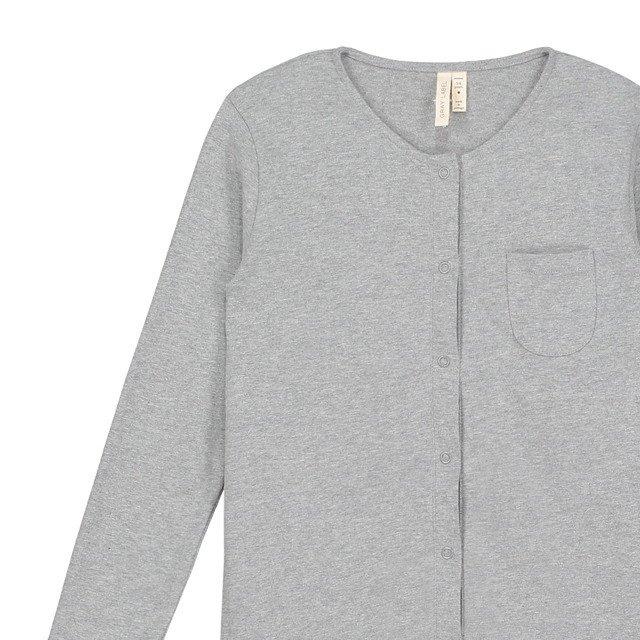 L/S Playsuit Grey Melange img1