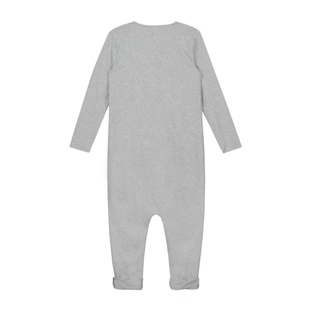 L/S Playsuit Grey Melange img3