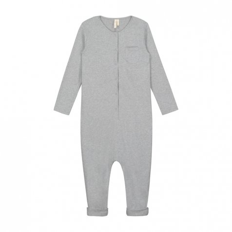 L/S Playsuit Grey Melange