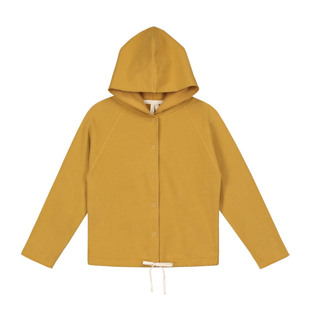 【SALE 30%OFF】Hooded Cardigan w/Snaps Mustard img
