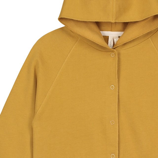 【SALE 30%OFF】Hooded Cardigan w/Snaps Mustard img1