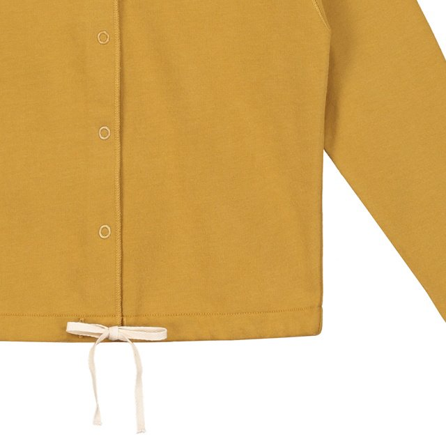 【SALE 30%OFF】Hooded Cardigan w/Snaps Mustard img2