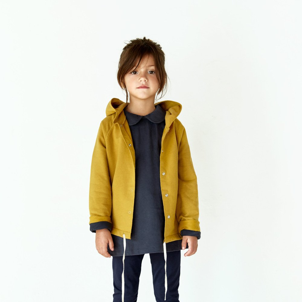 【SALE 30%OFF】Hooded Cardigan w/Snaps Mustard img4