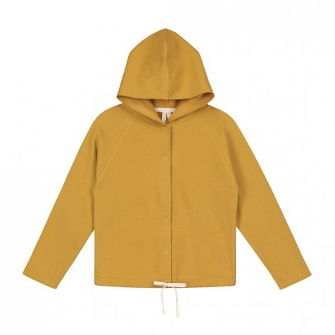 【SALE 30%OFF】Hooded Cardigan w/Snaps Mustard
