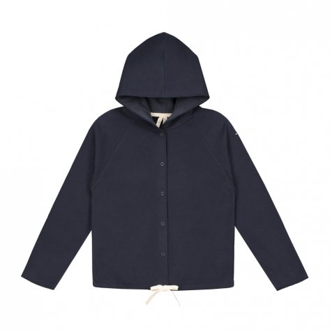 【SALE 30%OFF】Hooded Cardigan w/Snaps Night Blue