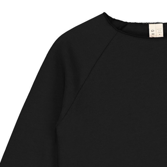 Ribless Sweater Nearly Black img1