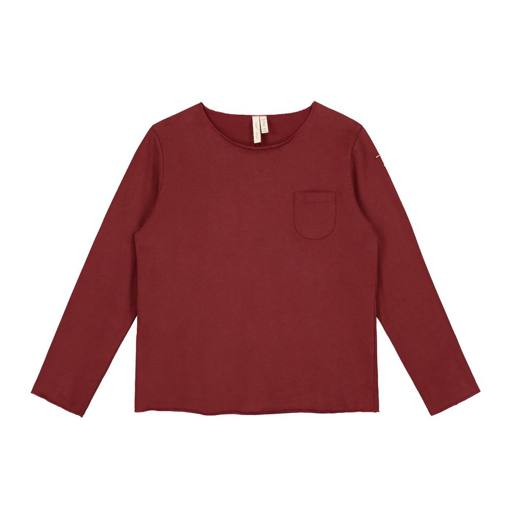 L/S Pocket Tee Burgundy img