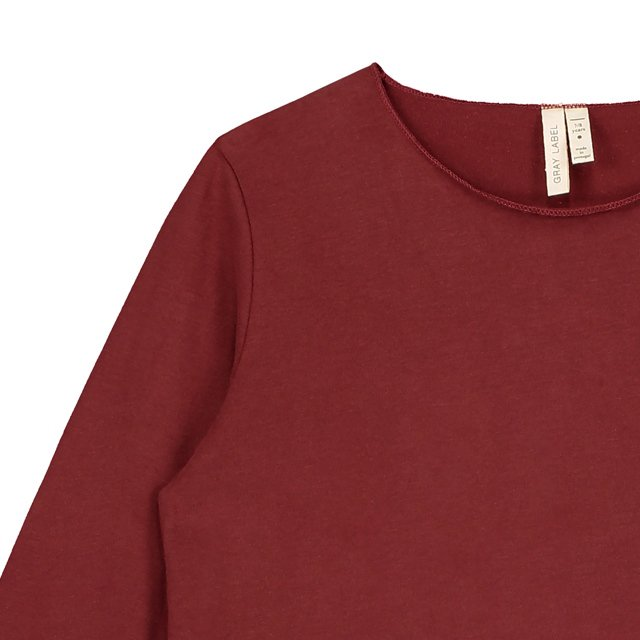 L/S Pocket Tee Burgundy img1