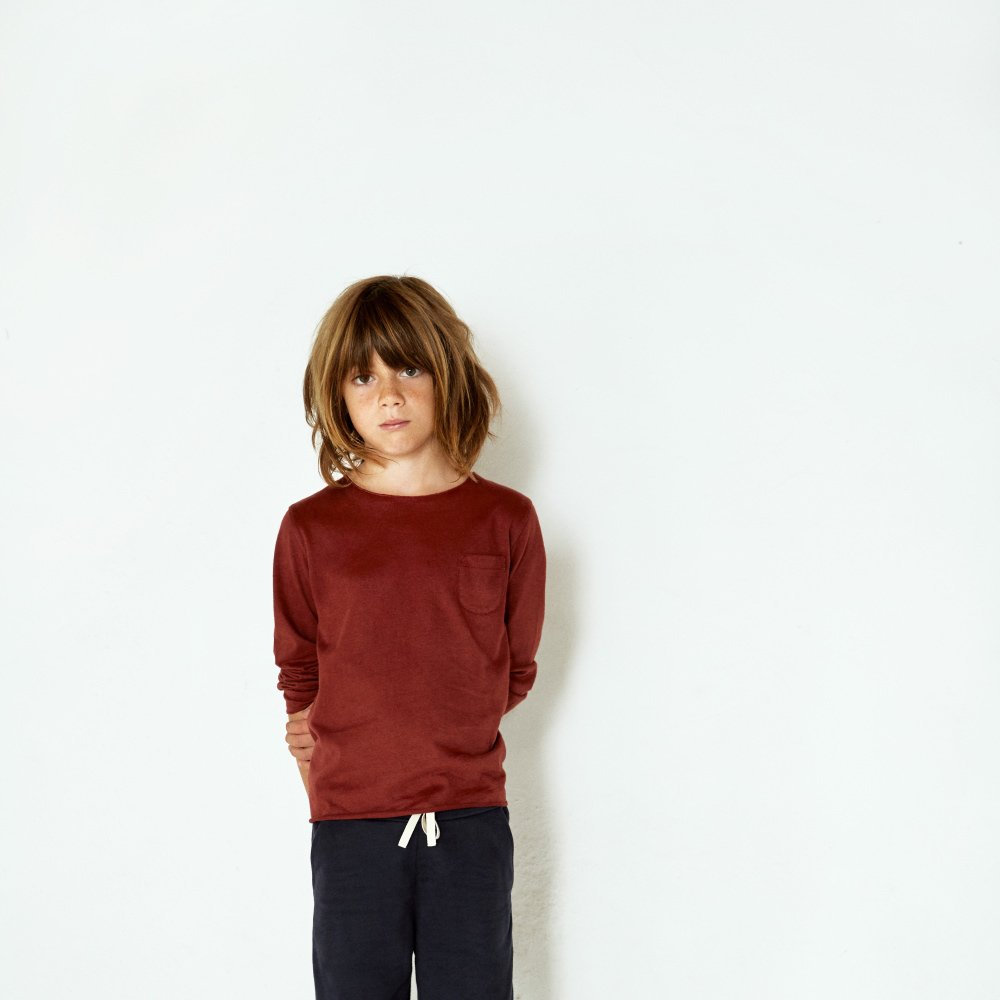 L/S Pocket Tee Burgundy img3
