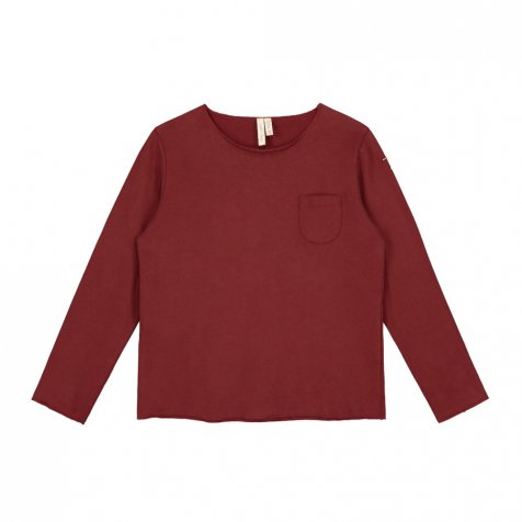 L/S Pocket Tee Burgundy
