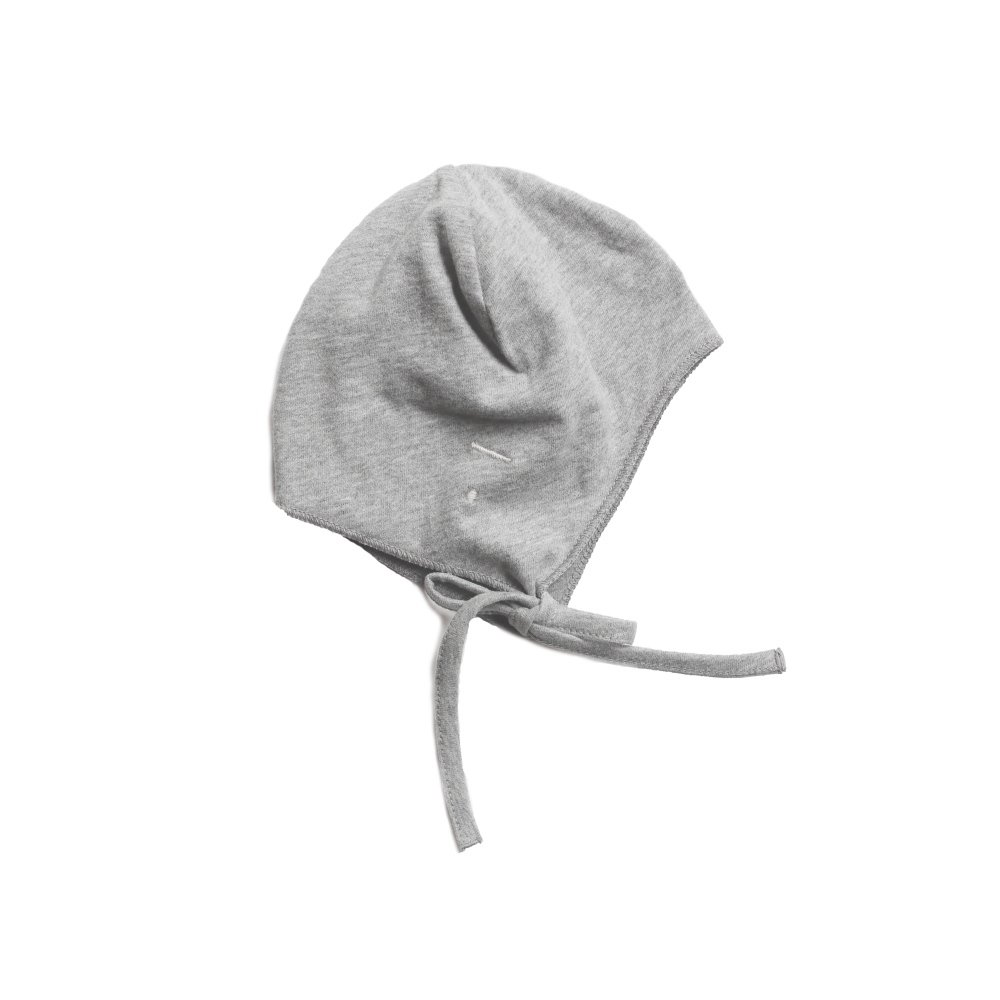 GRAY LABEL Baby Hat with Strings Grey Melange img