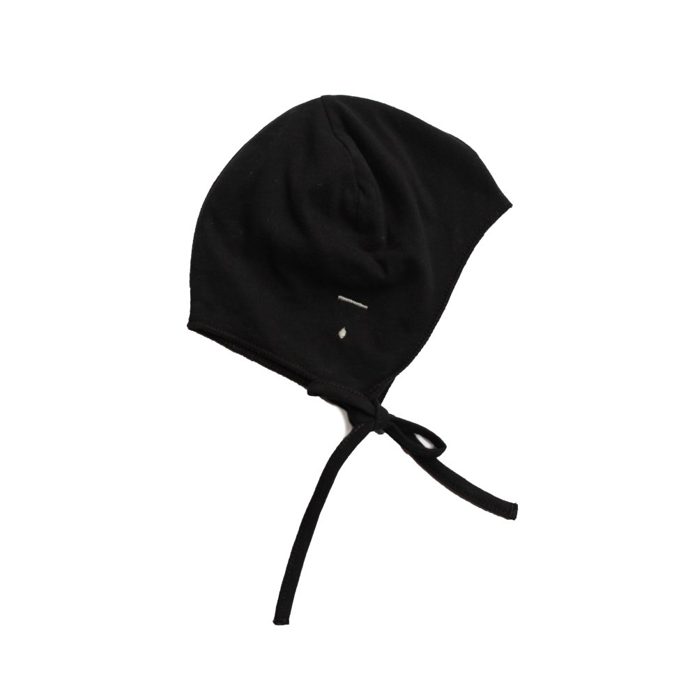 Baby Hat with Strings Nearly Black img