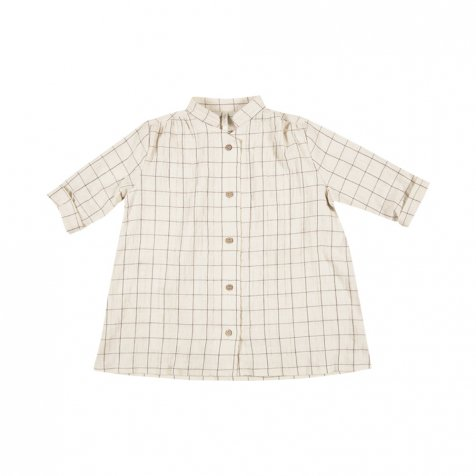 【SALE 30%OFF】button shirt dress check