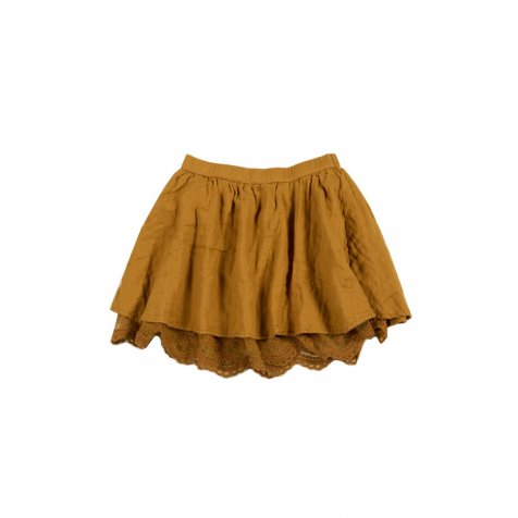 【MORE SALE 40%OFF】mini skirt ginger lace