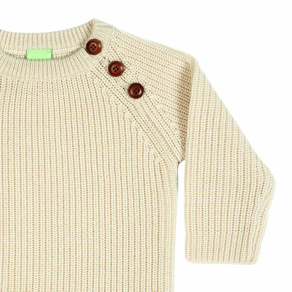 【MORE SALE 40%OFF】4517 AW Baby Sweater Rib ecru img1