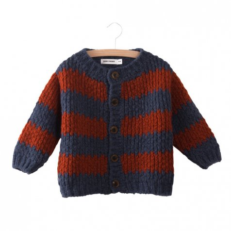 2017AW No.217131 Knitted Cardigan Big Stripes