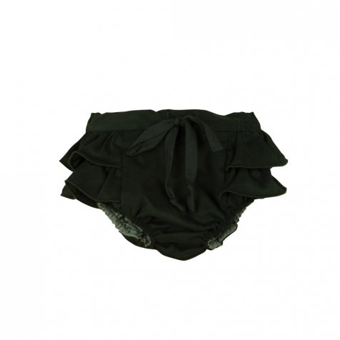 Black culotte with frill