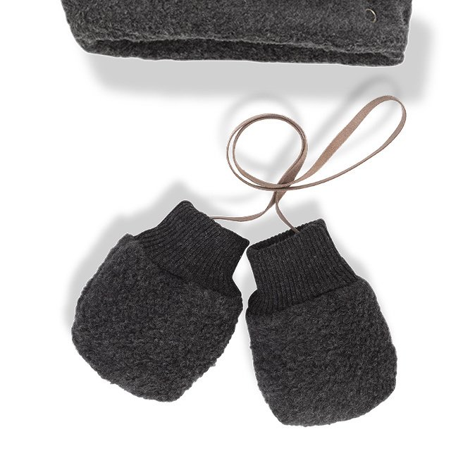 【SALE 30%OFF】LINUS bonnet & mittens ANTHRACITE img2