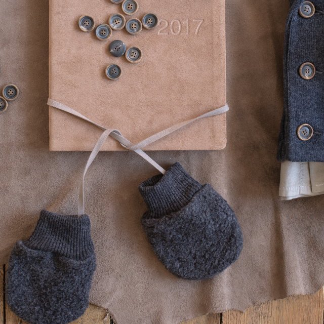 【SALE 30%OFF】LINUS bonnet & mittens ANTHRACITE img3