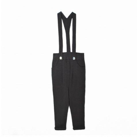【MORE SALE 40%OFF】GOJI Fleece Braces Trousers Carbone