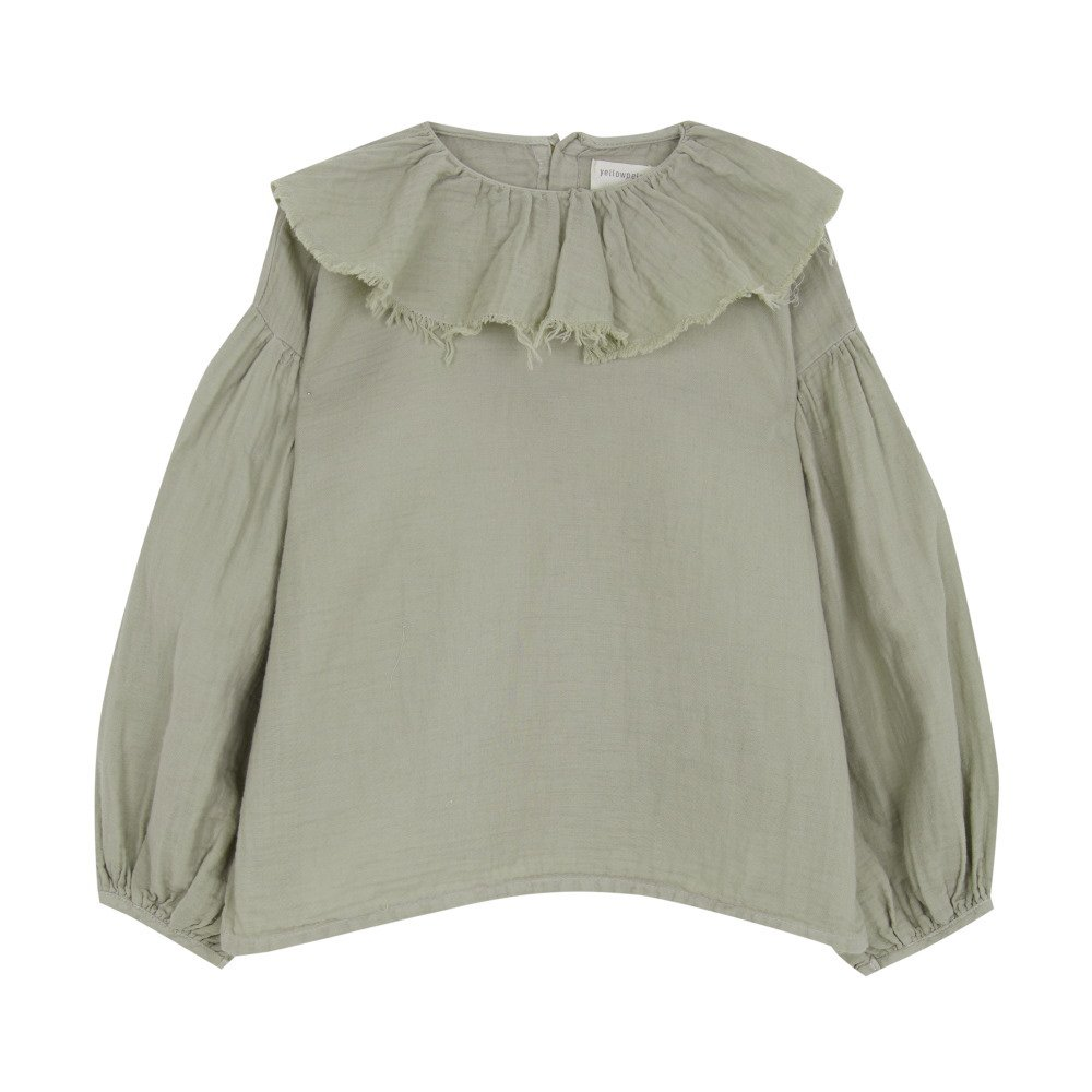 【MORE SALE 40%OFF】FLOUNCED BLOUSE Green grey img