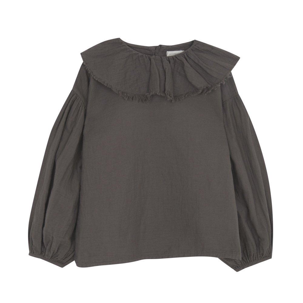 【MORE SALE 40%OFF】FLOUNCED BLOUSE Coffee img