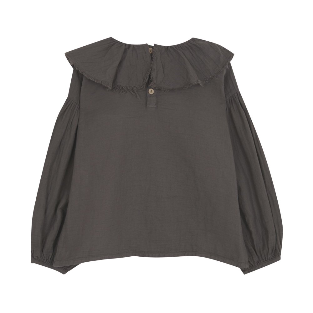 【MORE SALE 40%OFF】FLOUNCED BLOUSE Coffee img4