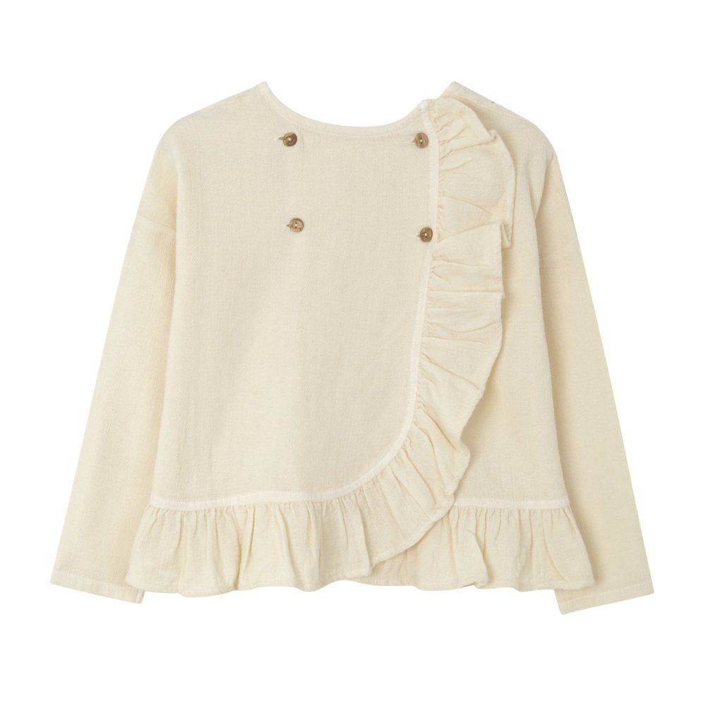 【SALE 30%OFF】FOLK CROSS BLOUSE Natural img4