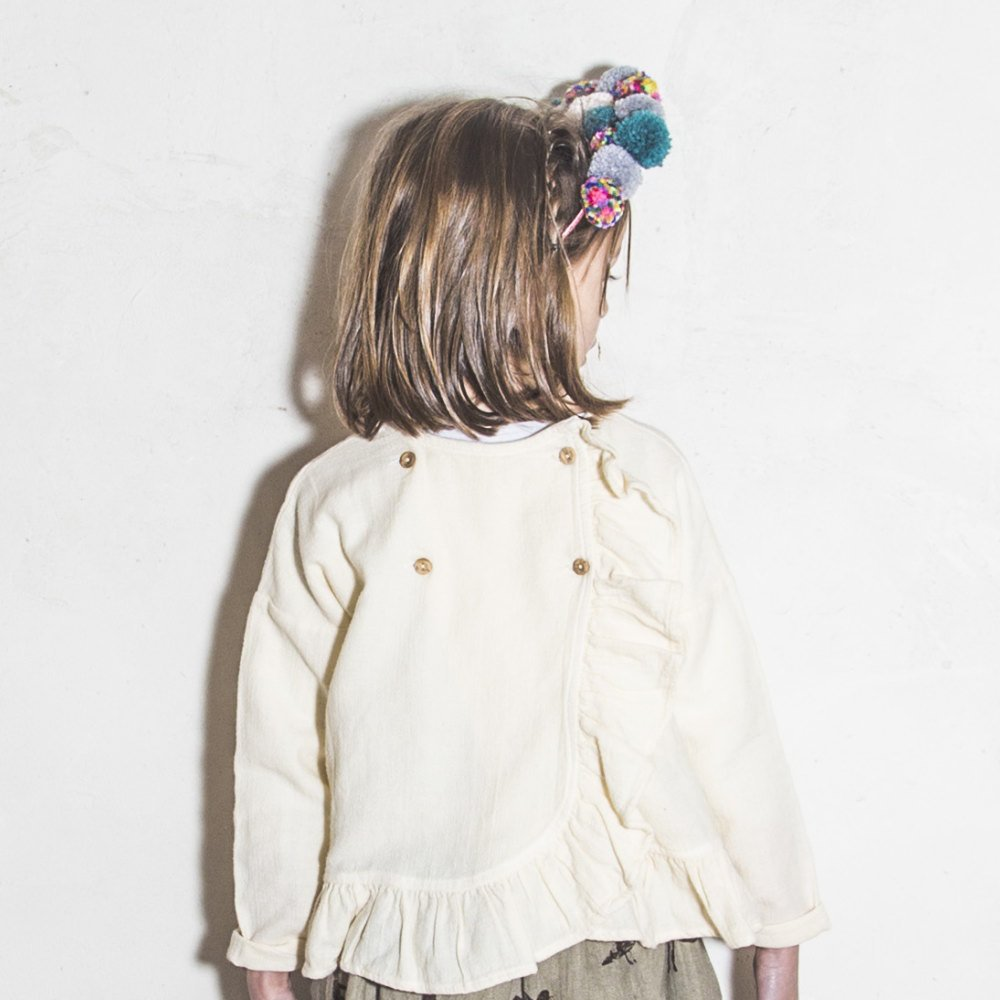 【SALE 30%OFF】FOLK CROSS BLOUSE Natural img8