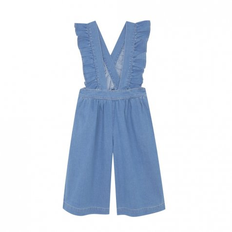 FOLK CULOTTE Washed denim
